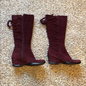 Sofft knee high wedge boots
